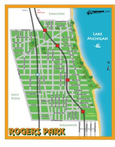 Map of Rogers Park, Chicago