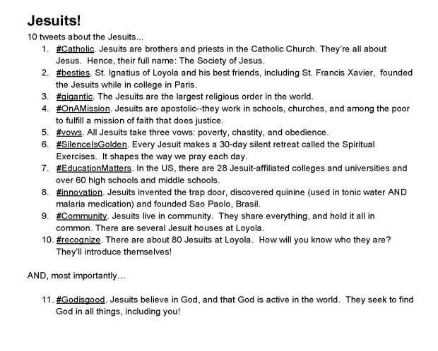 Jesuit Tweets