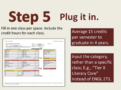 4 Year Plan Guide 7